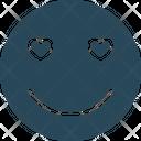 Hear Eye Adoring Emoticons Icon