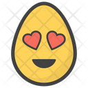 Heart Eye Egg Emoji Emoticon Icon