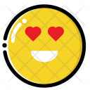 Heart-eye emoji Icon