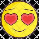 Heart Eye Emoji Love Expression Emotag Icon