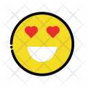 Heart eye emoji Icon