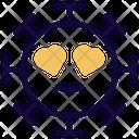 Heart Eyes Coronavirus Emoji Coronavirus Icon