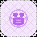Heart Eyes Emoji With Face Mask Emoji Icon