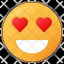 Heart Eyes Face Emoji Icon