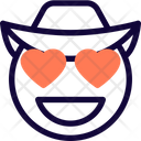 Heart Eyes Cowboy Icon