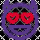 Heart Eyes Devil Icon
