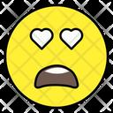 Heart Eyes Face Emotion Emoticon Icon