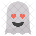 Heart Eyes Ghost Icon