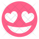 Pink Heart In Love Icon
