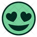 Green Heart Eyes Icon