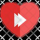 Heart Fast Forward Heart Valentine Icon
