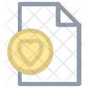 Heart File Extension Icon