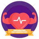 Healthy Heart Heart Fitness Strong Heart Icon