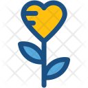Heart Flower Icon