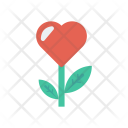 Heart Flower Nature Icon