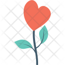 Heart Flower Floral Icon