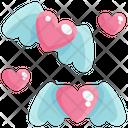 Heart Flying Heart Wings Love Icon
