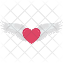 Heart Flying Day Flying Icon