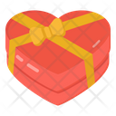 Heart Gift Valentine Present Wrap Heart Icon