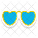 Heart Glasses Icon