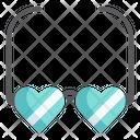 Heart Glasses Eyeglasses Romance Icon