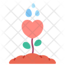 Growth Love Heart Icon