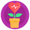 Heart Plant Heart Growth Love Growth Icon