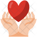Heart Hands Love Care Icon