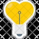 Heart In Bulb Bulb Lightbulb Icon