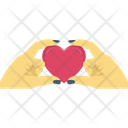 Heart In Hands Day Hands Icon