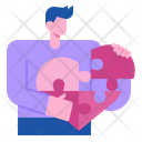 Jigsaw Puzzle Love Icon