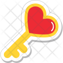 Key Heart Love Icon