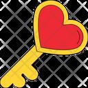 Heart Key Love Perception Romance Icon