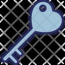 Heart Key Key To Heart Privacy Icon