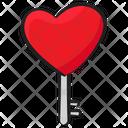 Heart Key Unlock Key Padlock Key Icon