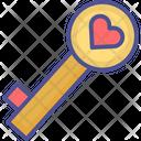 Heart Key Key Key To Heart Icon