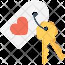 Heart Key Tag Icon