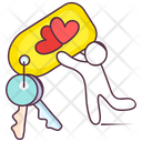 Heart Keychain Heart Keyring Key Holder Icon