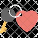 Heart Keychain Key Icon