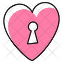 Heart Lock Security Lock Protective Padlock Icon