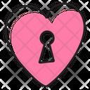 Heart Keyhole Icon