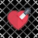 Heart Knife Kill Icon