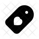 Heart Label Icon
