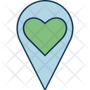 Heart Location Heart Sign Favorite Sign Icon