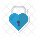 Heart Lock Secure Icon