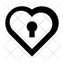 Heart Lock Love Inspiration Privacy Icon
