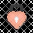 Heart Lock Valentine Love Lock Icon