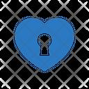 Heart Lock Love Icon