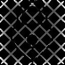 Lock Heart Secure Icon
