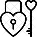 Heart Lock Privacy Icon